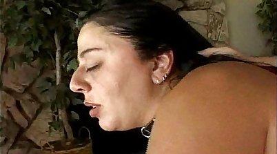 Busty BBW pumps herself and masturbates