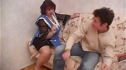 Russian Mom Fucks Step Son