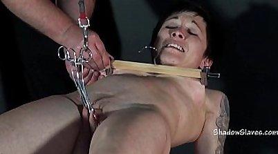 Extreme bondage slave tortured