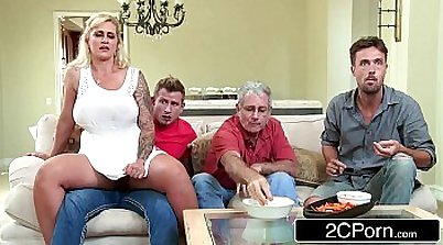Big tits milf Penny Starr fucked hard in the kitchen