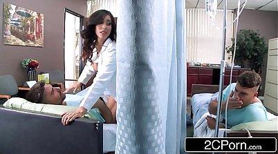 Dancing Latina Nurse Pinions Faster