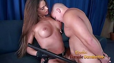 Sexy police uniform babe getting her tight wet pussy exposed