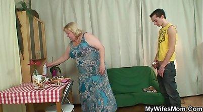 Bmoral granny seduces son with sound