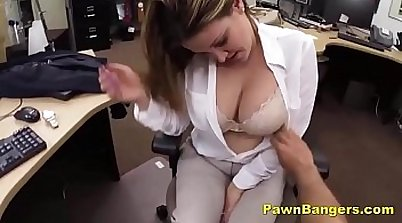Big titty mom pawns her pussy for a cash