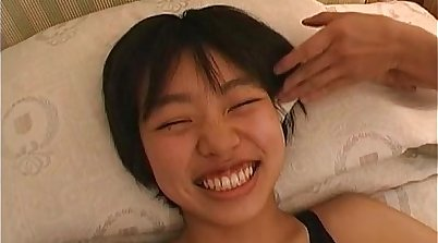Japanese teen fucks and sucks on pounder