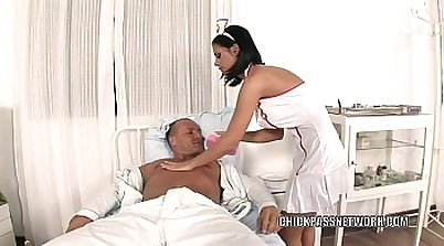 The nurse home slut fucked like a bitch