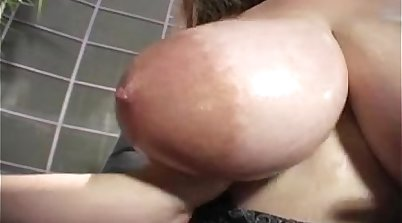 Busty slut gets her ass pounded and sucks