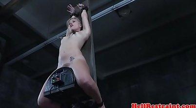 Cruel freak Cherie Deville is punished for stealing