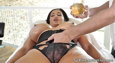 Nuru Massage Oiled up, Ass Filled, Nice Boobs!