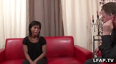 Old black casting man fucks her son in law