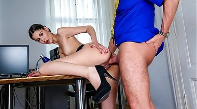 Hardcore morning sex with boss in the office