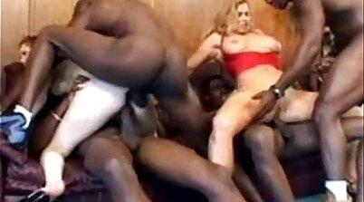 Cuckold MILF fucked indoors by BBC