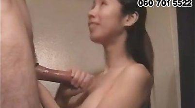 Curling white cock with korean girls
