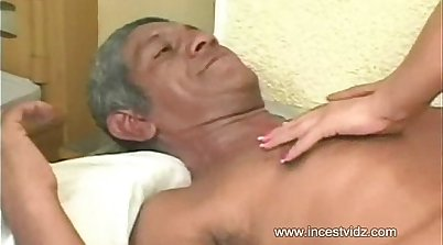 Alluring brazilian babe hammered by grandpa