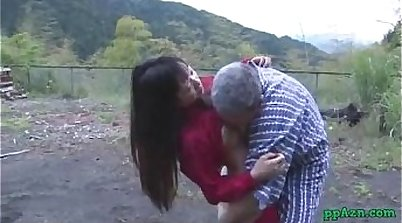 Asian punk screamer pussy licked and cummed on the table